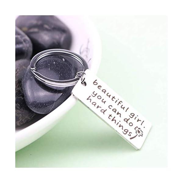 Inspirational Keychain Best Good Friends Keychains Engraved Mantra Birthday Jewelry Gift Keychain for Her Women Men