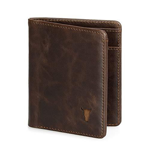 TORRO Herren Geldbörse aus hochwertigem USA Leder [RFID Schutz] [5 Kartenfächer] [1...