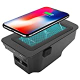 Wireless Fast Phone Charging Plate, Vehicle Inner Central Box Charger Accessory with 2 USB Ports, Compatible with Volvo XC90 XC60 S90 S60 V90 V60