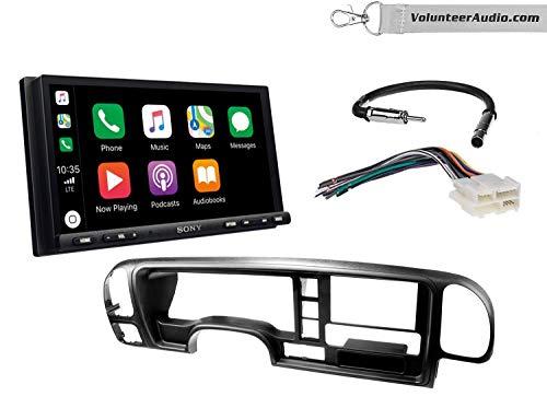 Sony XAV-AX7000 Double Din Radio Install Kit With Apple Carplay, Android Auto, SiriusXM Fits 1995-1999 Suburban, 1995-1999 Tahoe