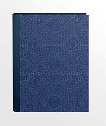 Clairefontaine zellige 82216C–Libreta de direcciones A514,8C21cm protectora enveloppante rígida azul piel sintética embossé 162páginas de color marfil