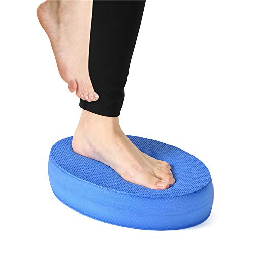 XTDGN Oval Foam Balance Pad Übung Trainer, Nicht Beleg reißfest Wobble Kissen, Balancing Stabilisierung Core Training - für Hauptgymnastik, 12 x 7,9 x 2,4 Zoll