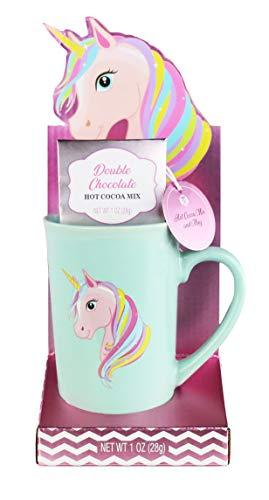 Thoughtfully Gifts, Unicorn Mug Gift Set, Includes Unicorn Mug with Double Chocolate Hot Chocolate Mix