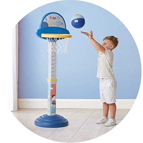 XIUYU Fitness Basketballkorb Startseite Indoor Kinder-Basketball-Standplatz Abhebbarer Basketballkorb beweglichen im Freien Unabhängigen Basketball Ständer (Color : Blue, Size : 42 * 42 * 140180cm)