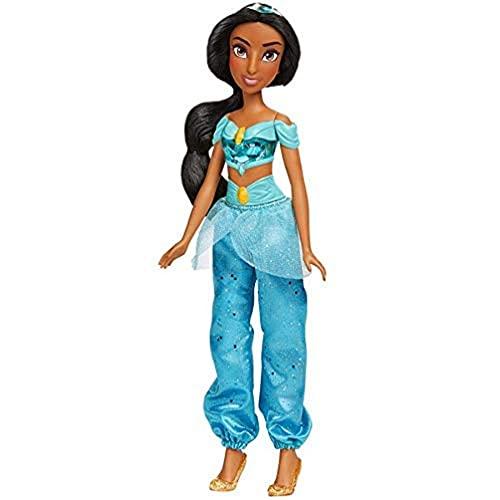 Oferta de Disney Princess Muñeca Jasmín Royal Shimmer, Muñeca con Falda y Accesorios, Juguete para niñas y niños de 3 años en adelante