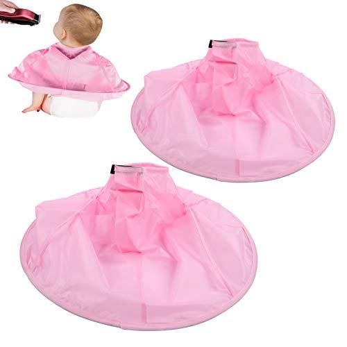 ヘアカットキャップヘアカット傘、ヘアキャッチャー、子供向けキッズプロフェッショナルヘアサロンホーム(pink)