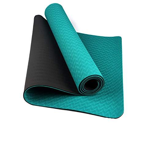 FitTrek Esterilla Yoga Antideslizante Fitness Deporte Pilates - Colchoneta Abdominales Gimnasia Pilates TPE - 183 x 66 cm Yoga Mat - Alfombra Alfombrilla Yoga 6mm 8mm