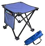 Aiwoxing Taburete Plegable Portátil Silla Portátil, Compacto Ligero para Interiores y Exteriores al Aire Libre de Camping Pesca Senderismo Camping Caza Picnic Viaje, Azul