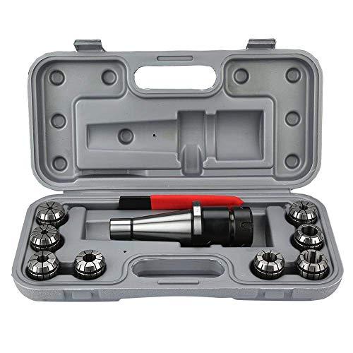 Busirsiz ER32 Juego de pinzas ER32, portabrocas de collet de 10 piezas/set NT40-ER32 CNC fresado portabrocas de trabajo y 8 piezas ER32 herramientas industriales