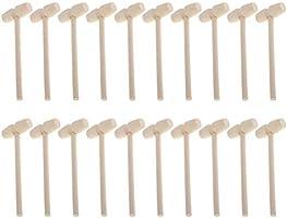 STOBOK 20 stycken trä minihammare krabbor hummer slappar skaldjur cracker barn pedagogisk hammare leksak presenter för...