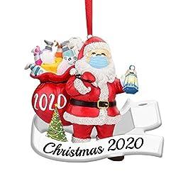 2020 Décoration de Noël – Masque PèRe Figurine à Porter comme d'arbre Ou Pendentif en Rotin Ornement Portant Un pour…
