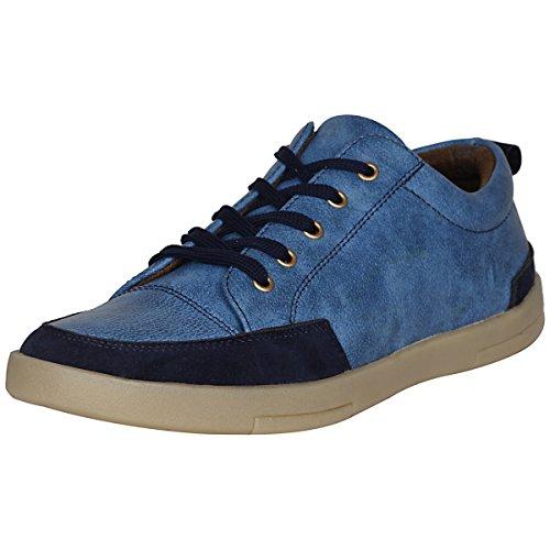 Marco Ferro 1666 Blue Men casual Lace-Ups