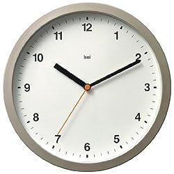 BAI Designer Wall Clock, Helio White