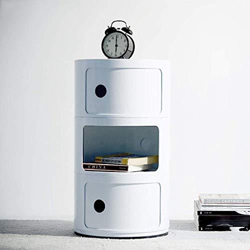Costello® Weißer Kommoden-Nachttisch, Beistelltisch mit 2, 3, 4, 5 Modulen, moderne Möbel, Behälter, Componibili 3 Etagen