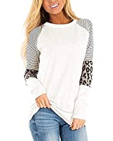 Women's Leopard Print Color Block Tunic Tops Casual Round Neck Pullover Blouses T Shirts-As Pic02-8X-Large