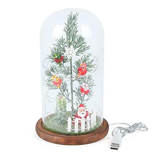 BIOBEY Luces de decoración de Navidad, luces LED, árbol de Navidad, adornos con pantallas de lámpara, decoración de escritorio en casa, oficina, dormitorio, sala de estar