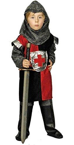 Ritter Erwann Kostüm Kinder Rot Gr. 128