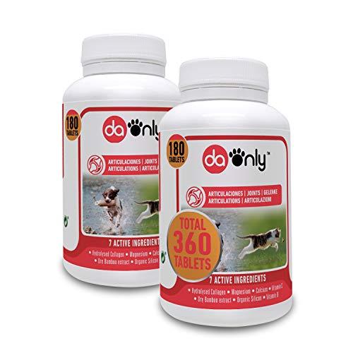 DAONLY colágeno Natural antiinflamatorio para Perros |360 Comprimidos| Pastillas Naturales | Alternativa a medicamentos y condroprotectores para Gatos