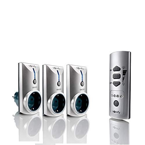 SOMFY 2401199Pack avec Un Commandement à Distance et 3Prises, 3600W, 230V, Gris