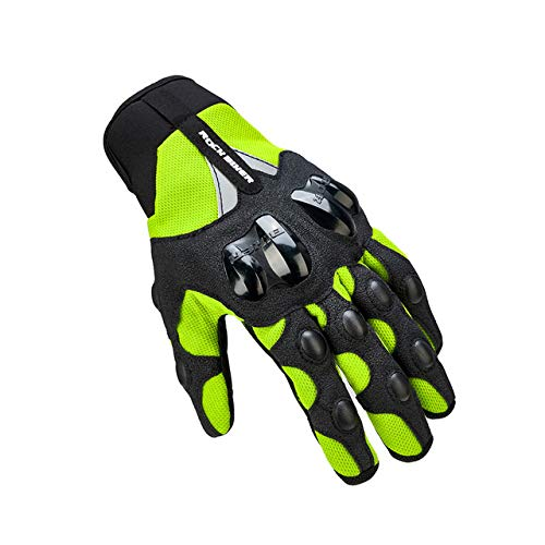 IAMZHL Warme Motorradhandschuhe Winter Radfahren Mountainbike Guantes Motocross Luvas Touchscreen Moto Handschuhe Herren Wasserdicht -Summer Gloves Green-L