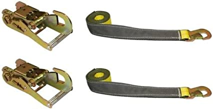 BA Products 38-3D-OEM-x2, 38-22D-x2, Set of Two OEM Straps & Two Ratchet with Snap Hooks for Dynamic, Century, Vulcan Auto Loader Wheel Lifts
