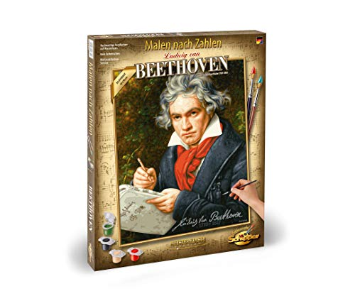 Schipper 609130834 - Malen nach Zahlen - Ludwig Van Beethoven - Bilder malen für Erwachsene, inklusive Pinsel und Acrylfarben, 40 x 50 cm