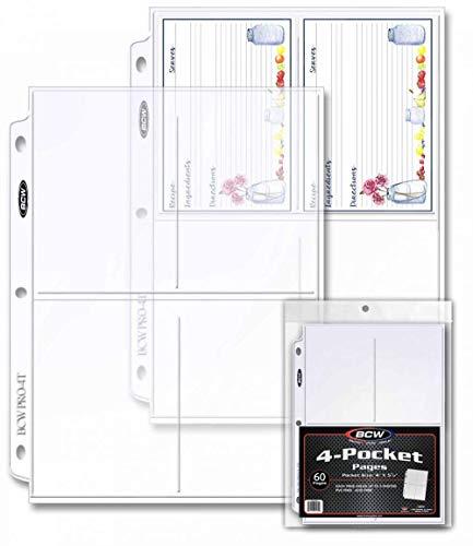 20(Zwanzig Seiten)–Pro Viertaschen-Gutschein Seite (8,9x 12,7cm, Top Load Taschen) 3 Pack Rostfrei