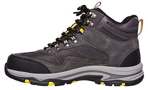 Skechers USA Men's Men's Waterproof Boot Hiking, Grey, 12