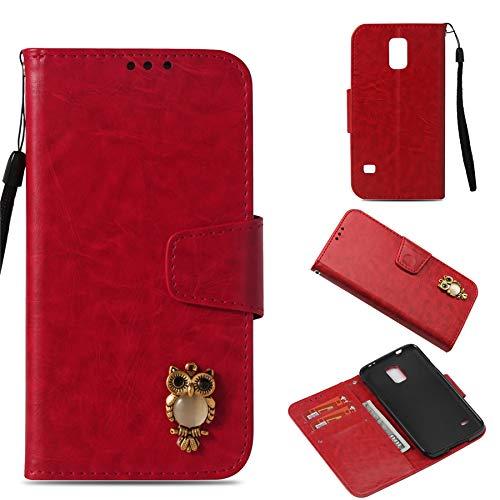 Luckyandery Galaxy S5 wallet case,Galaxy S5 Case folio, Book Cover Card&Cash Slots Kickstand Magnetic Closure Samsung Galaxy S5