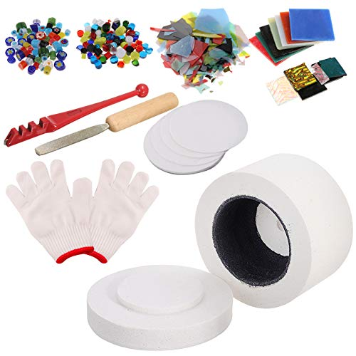Kit de Horno de Microondas Pequeño Profesional de 10 Piezas para horno de fusión de vidrio DIY Kit de Herramienta el Vidrio Calefacción de Fusion Que Hace el Colgante de Joyería de Bricolaje