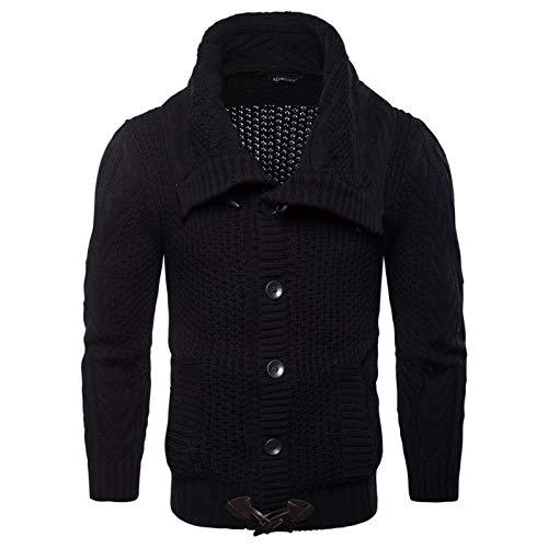 GXju- Furniture Männer Normallack Strickjacke Dicker Mantel Pullover Kurze Warm Top-to meiner lieben Familie (Color : Black, Size : M Number)