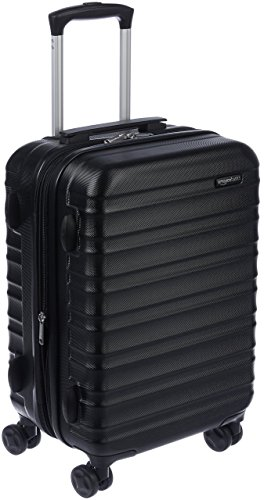 AmazonBasics Hardside Luggage Expandable Suitcase - Cabin Size, Black , 55 CM
