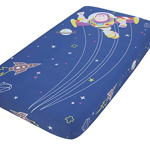 Disney Toy Story Buzz Lightyear - Blue & Green Photo Op Fitted Crib Sheet,...