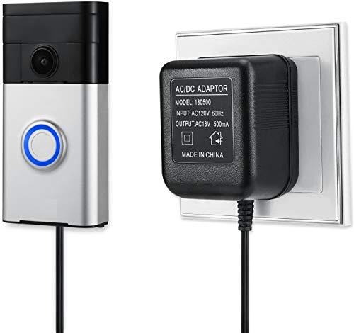 Wasserstein Power Supply Adapter Compatible with Wyze Doorbell, Ring Video Doorbell/Doorbell 2/Doorbell Pro/Doorbell Wired, eufy Security Doorbell, &Arlo Video Doorbell