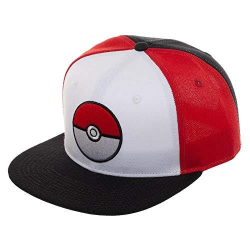 Pokemon Pokeball Color Block Snapback Sombrero