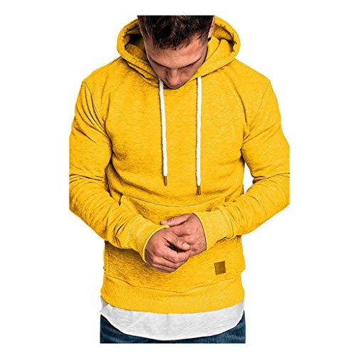 Komise Men's long-sleeved autumn winter leisure sweatshirt hoodies top blouse tracksuits - Multicolour - One size