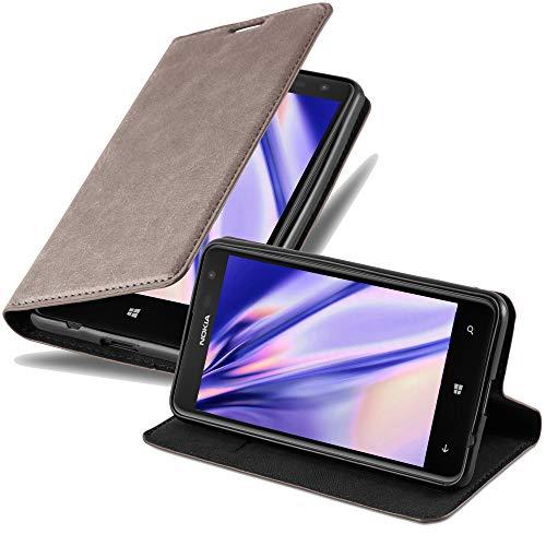 Cadorabo Funda Libro para Nokia Lumia 625 en MARRÓN CAFÉ - Cubierta...
