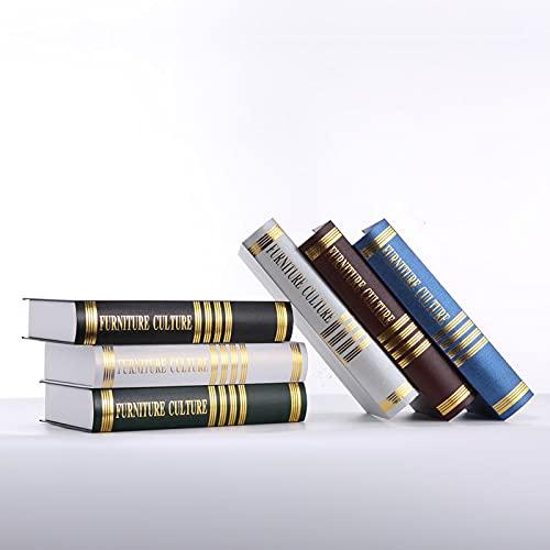 Decorative Book Simulation Book Prop Site Book Book Book Box Book Bookcase Ornaments-Dark Blue,A