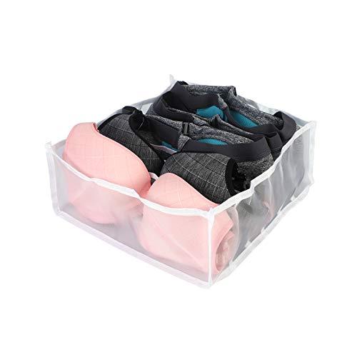Cysincos Aufbewahrungsbox für Unterwäsche und andere kleine Zubehörteile, Faltbare Schubladenunterteilungen Schubladen Organizer Kleiderschrankschubladen Divider