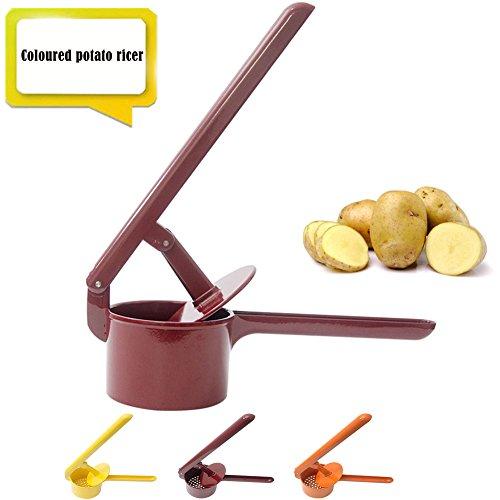 Potato Ricer Potato Masher Stainsteel Steel Potato Press Kitchen Ricer Large Baby Food Strainer Vegetable Fruit Press(3 Colors)(Red)