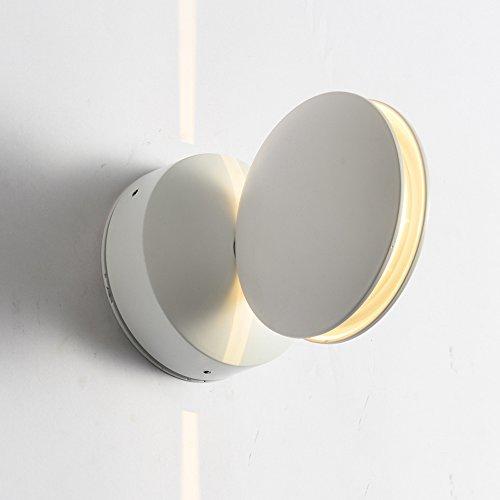 ZHANGYN Candelabros de pared Sencillo llevado moderna lámpara de pared de aluminio hotel Corredor Reunidos curvado decorativo de pared de luz (Color : A)