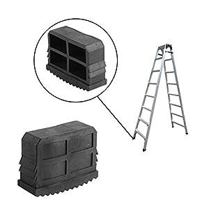 2pcs / Paire Pieds D'échelle Universels en Caoutchouc Remplacement tampons Anti-dérapant échelle Pieds de Tapis Housse de Coussin sécurité Pare-Chocs kit de Remplacement