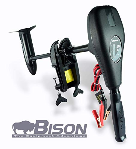 Bison 40ft/lb 12v Electric Outboard Trolling Motor with Free Spare Propeller