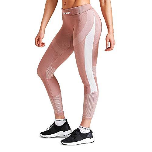 SMILODOX Damen Leggings Ultimate | Seamless - Figurformende Tight für Fitness Gym Yoga Training & Freizeit | Sporthose - Workout Trainingshose, Größe:M, Farbe:Altrosa