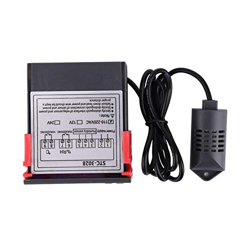 Sensor de pantalla digital, sensor de control de humedad, carcasa de plástico ignífugo ABS de temperatura dual con pantalla doble, para máquinas de agua de refrigeración(110~240VAC)