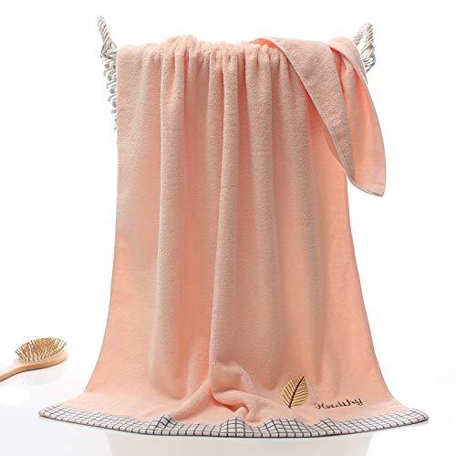 Gxeb Dorado Hoja Baño Toalla Suave Absorbente Familia Unisexo Algodón Bordado Grande Rectangular Baño Toalla Z/pink*2/70×140 cm