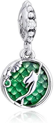 Autumn Ariel Colgando Bead 925 Plata bricolaje Fits para Pandora Pulseras originales Charm Joyería de moda