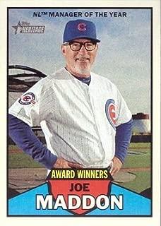 2016 Topps Heritage Award Winners #AW-8 Joe Maddon Chicago Cubs Baseball Card