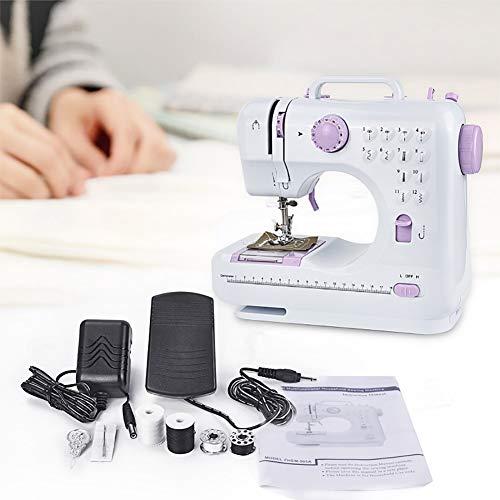FDSEX Mini Sewing Machine Electric, Household Portable Sewing Machine mit Fußpedal Zuhause und Reisen für Kleidung, Stoff, Vorhang und Heimwerker