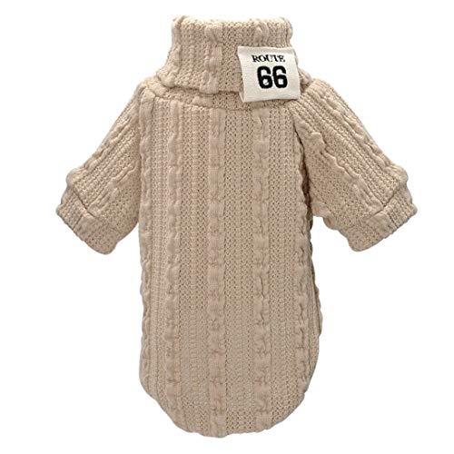 Feidaeu Haustiere Hund Pullover Mantel Winter Hunde Sportswear Strick Warm Bequem Atmungsaktiv Small Medium Animal Clothing